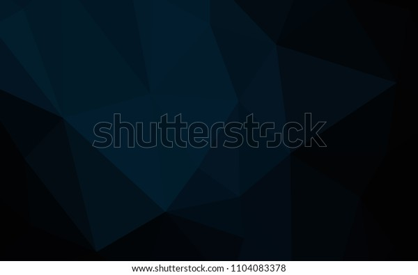Dark BLUE vector shining triangular backdrop. Geometric illustration in Origami style with gradient.  Template for cell phone's backgrounds.