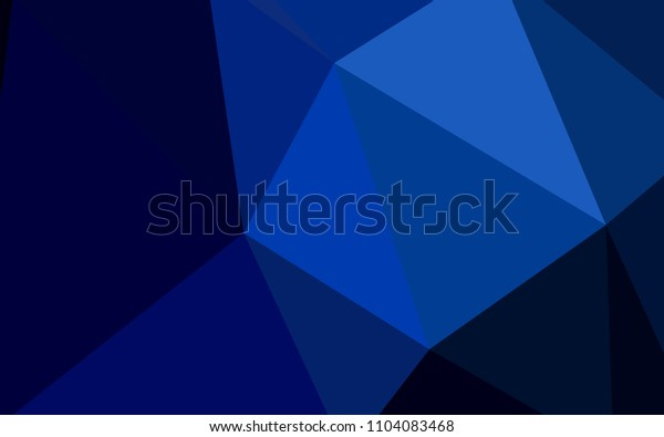 Dark BLUE vector shining triangular backdrop. Colorful illustration in abstract style with triangles. A completely new design for your leaflet.