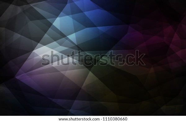Dark BLUE vector shining triangular layout. Polygonal abstract illustration with gradient. Pattern for a brand book's backdrop.