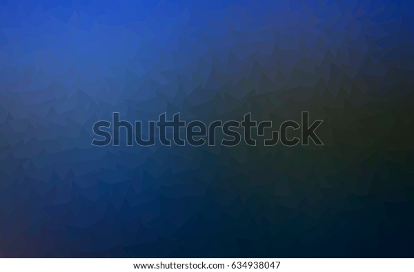 Dark BLUE vector of small triangles on white background. Illustration of abstract texture of triangles. Pattern design for banner, poster, cover.