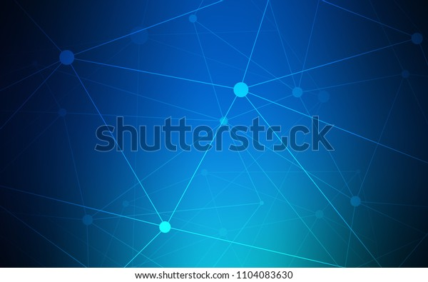 Dark BLUE vector template with circles, triangles. Illustration with set of colorful abstract circles and lines. Pattern can be used as texture of wallpapers.