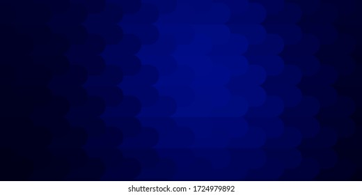 Dark BLUE vector template with lines. Repeated lines on abstract background with gradient. Pattern for booklets, leaflets.