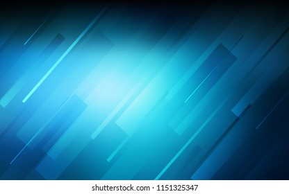 Dark BLUE vector template with repeated sticks. Decorative shining illustration with lines on abstract template. Smart design for your business advert.