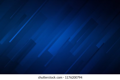 Dark BLUE vector template with repeated sticks. Blurred decorative design in simple style with lines. Template for your beautiful backgrounds.