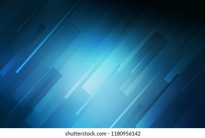 Dark BLUE vector template with repeated sticks. Glitter abstract illustration with colored sticks. Template for your beautiful backgrounds.