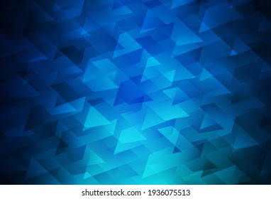 Dark BLUE vector template with rhombus. Beautiful illustration with rectangles and squares. Best design for your ad, poster, banner.