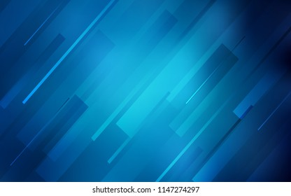 Dark BLUE vector texture with colored lines. Glitter abstract illustration with colored sticks. The pattern for ad, booklets, leaflets.