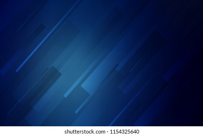 Dark BLUE vector texture with colored lines. Modern geometrical abstract illustration with Lines. The pattern for ad, booklets, leaflets.