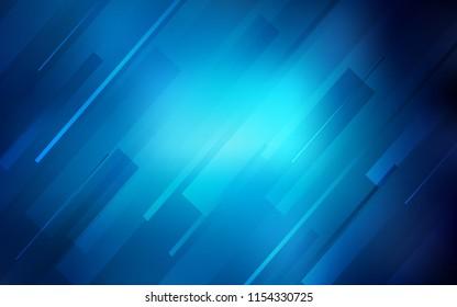 Dark BLUE vector texture with colored lines. Decorative shining illustration with lines on abstract template. Pattern for ads, posters, banners.