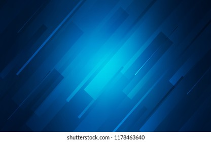 Dark BLUE vector texture with colored lines. Lines on blurred abstract background with gradient. The pattern for ad, booklets, leaflets.