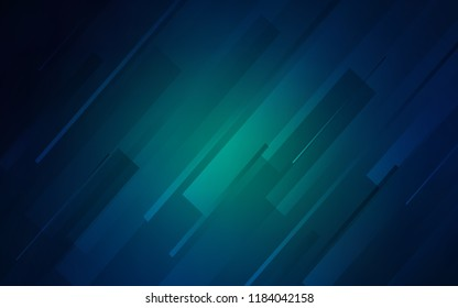Dark BLUE vector texture with colored lines. Lines on blurred abstract background with gradient. Smart design for your business advert.