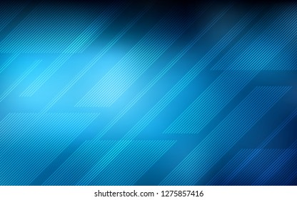 Dark BLUE vector texture with colored lines. Decorative shining illustration with lines on abstract template. Smart design for your business advert.