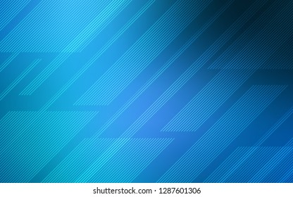 Dark BLUE vector texture with colored lines. Decorative shining illustration with lines on abstract template. Pattern for your busines websites.