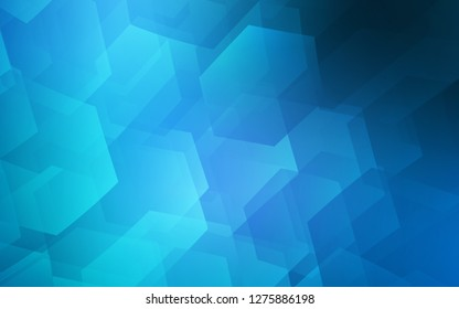 Dark BLUE vector texture with colorful hexagons. Abstract illustration with colorful hexagons. New template for your brand book.