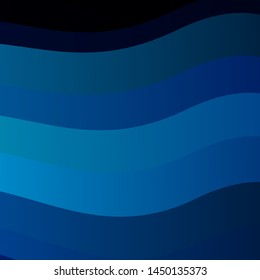 Dark BLUE vector texture with curves. Colorful illustration in circular style with lines. Pattern for websites, landing pages.
