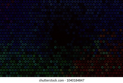 Dark BLUE vector  texture with disks. Beautiful colored illustration with blurred circles in nature style. The pattern can be used for ads, leaflets of liquid.