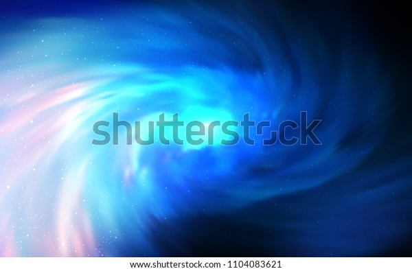 Dark BLUE vector texture with milky way stars. Shining colored illustration with bright astronomical stars. Pattern for astrology websites.
