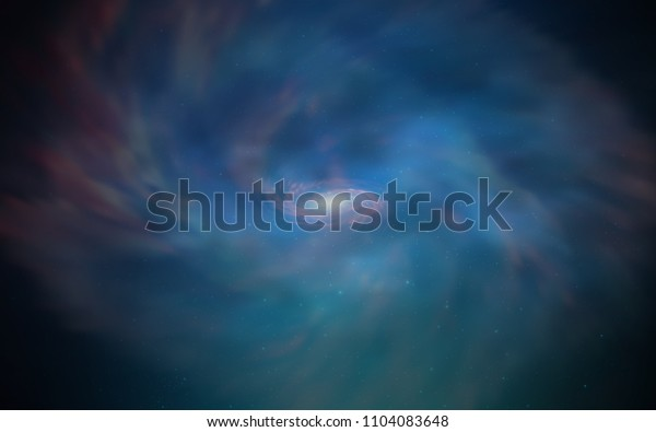 Dark BLUE vector texture with milky way stars. Glitter abstract illustration with colorful cosmic stars. Pattern for futuristic ad, booklets.