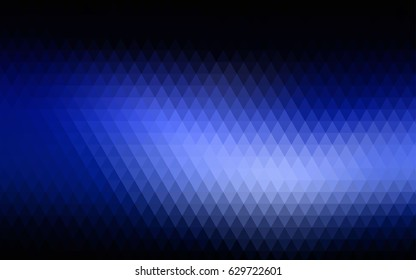 Dark BLUE vector triangle mosaic background. Brand-new colored illustration in blurry style with gradient. The polygonal design can be used for your web site.