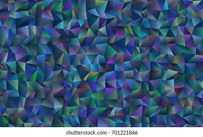 Dark BLUE vector triangle mosaic pattern. A vague abstract illustration with gradient. Brand-new design for your business.