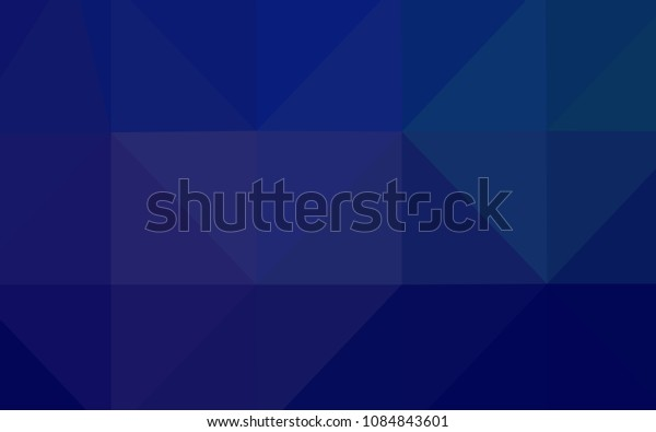 Dark BLUE vector triangle mosaic template. Polygonal abstract illustration with gradient. A completely new template for your business design.