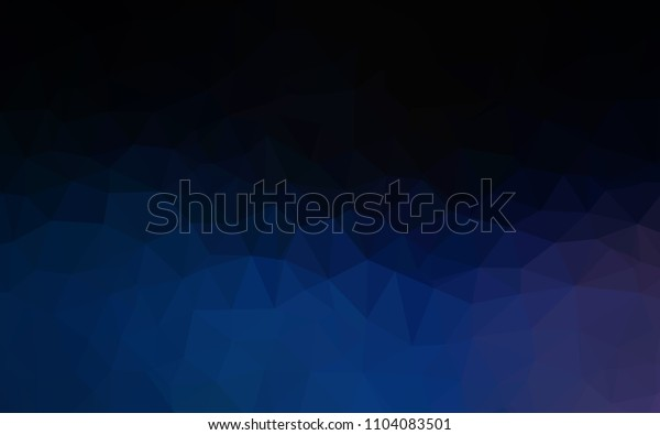 Dark BLUE vector triangle mosaic cover. Elegant bright polygonal illustration with gradient. Template for cell phone's backgrounds.