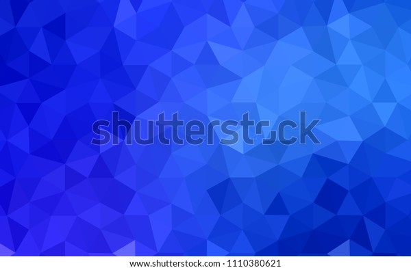 Dark BLUE vector triangle mosaic cover. Colorful illustration in abstract style with triangles. A completely new design for your leaflet.