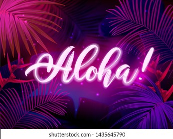 Neon Tropical Wallpaper High Res Stock Images Shutterstock Are you searching for tropical leaf png images or vector? https www shutterstock com image vector dark blue violet tropical party design 1435645790