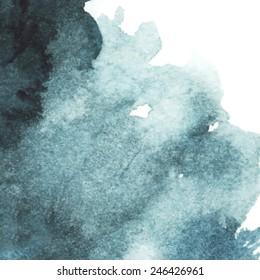 dark blue watercolor abstract background/ spot/ indigo/ vector illustration