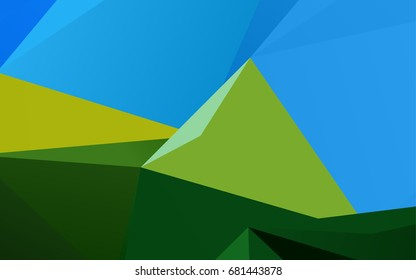 Dark Blue, Yellow vector abstract polygonal template. Creative geometric illustration in Origami style with gradient. Triangular pattern for your business design.