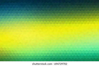 Dark Blue, Yellow vector abstract textured polygonal background. Brand-new blurry hexagonal design. Pattern can be used for background.