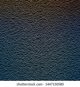 Dark Blue, Yellow vector backdrop with curves. Illustration in halftone style with gradient curves. Pattern for websites, landing pages.