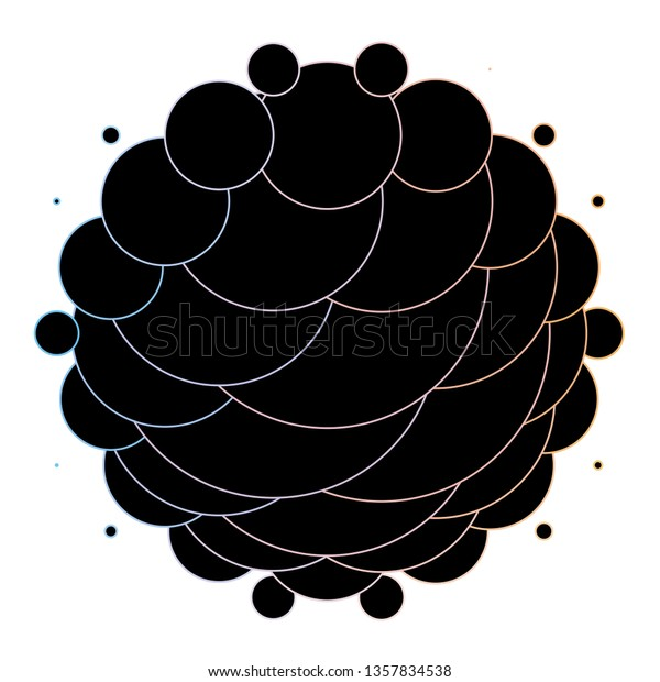 Dark Blue, Yellow vector background with circles. Abstract illustration with colorful spots in nature style. New template for your brand book.