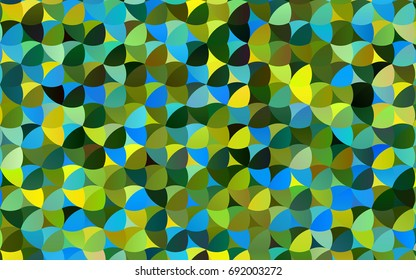 Dark Blue, Yellow vector illustration which consist of circles. Dotted gradient design for your business. Creative geometric background in halftone style with colored spots.