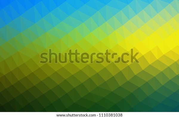 Dark Blue, Yellow vector low poly layout. Shining illustration, which consist of triangles. Brand new style for your business design.