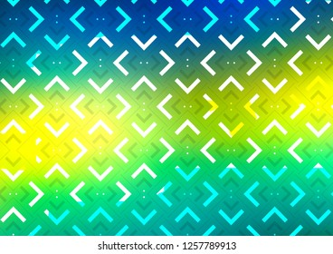 Dark Blue, Yellow vector pattern with narrow lines. Shining colored illustration with narrow lines. The pattern can be used for websites.