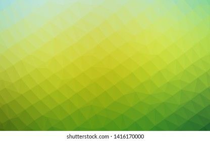Dark Blue, Yellow vector polygon abstract backdrop. Creative illustration in halftone style with gradient. Textured pattern for background.