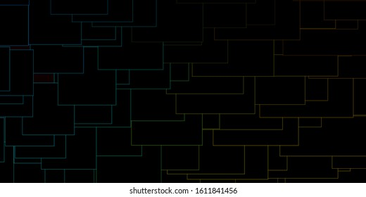 Dark Blue, Yellow vector template in rectangles. New abstract illustration with rectangular shapes. Pattern for commercials, ads.