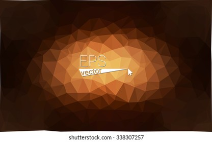Dark brown geometric rumpled triangular low poly origami style gradient illustration graphic background. Vector polygonal design for your business.