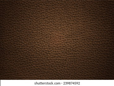 Dark brown leather texture background , Vector EPS 10.