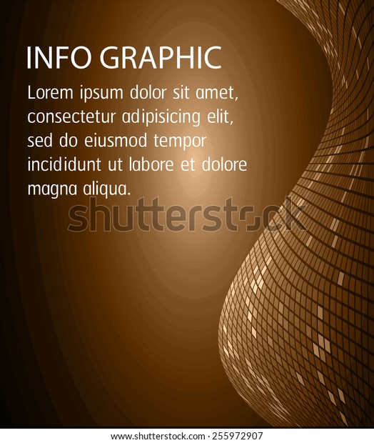Dark brown Light Abstract Technology background for computer graphic website internet and business. circle text box. Brochure. card. wave