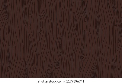 Dark brown wenge wood texture. Wooden vector background