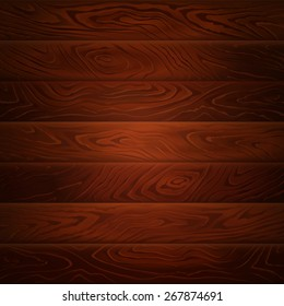 Dark brown wood texture. Wooden background. Vector illustration can be used for backgrounds, web design or surface textures.