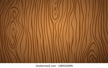 Dark brown wooden cutting, chopping board, table or floor surface. Wood texture. Vector illustration
