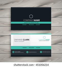 dark business card modern design