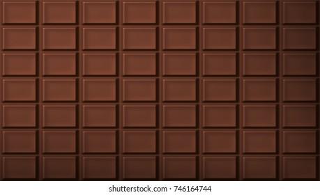 Dark Chocolate Bar Pattern Background. EPS10 Vector