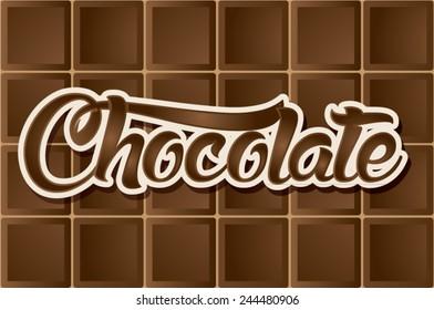 Dark Chocolate type, font, graphic, vector
