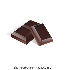 dark chocolate vector icon pieces illustration of sketch