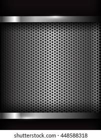 Dark chrome steel abstract background vector illustration eps10