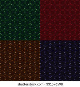 Dark circles seamless pattern